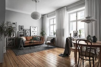 Awesome rustic industrial living room design and decor ideas 16