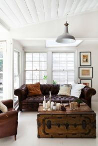Awesome rustic industrial living room design and decor ideas 25