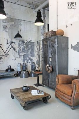 Awesome rustic industrial living room design and decor ideas 28