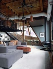 Awesome rustic industrial living room design and decor ideas 39