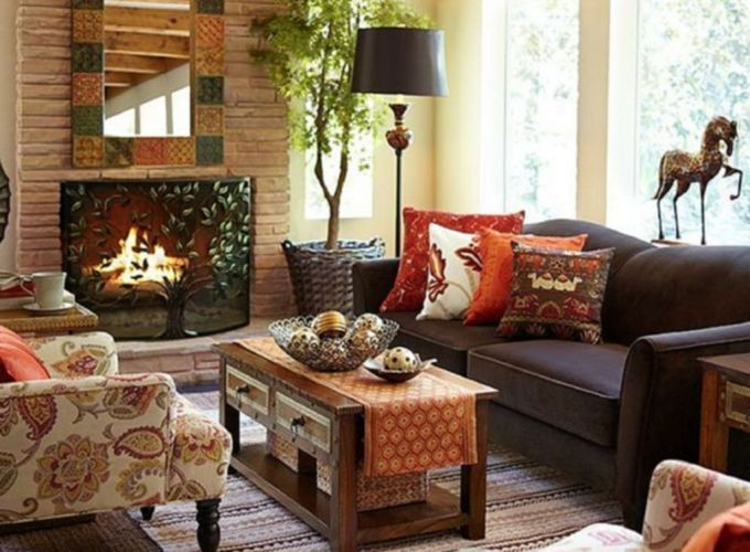 Brilliant bohemian farmhouse decorating ideas for your living room 07