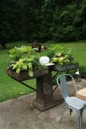 Brilliant garden junk repurposed ideas to create artistic landscaping 48