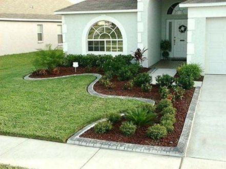 Impressive small front yard landscaping ideas 21