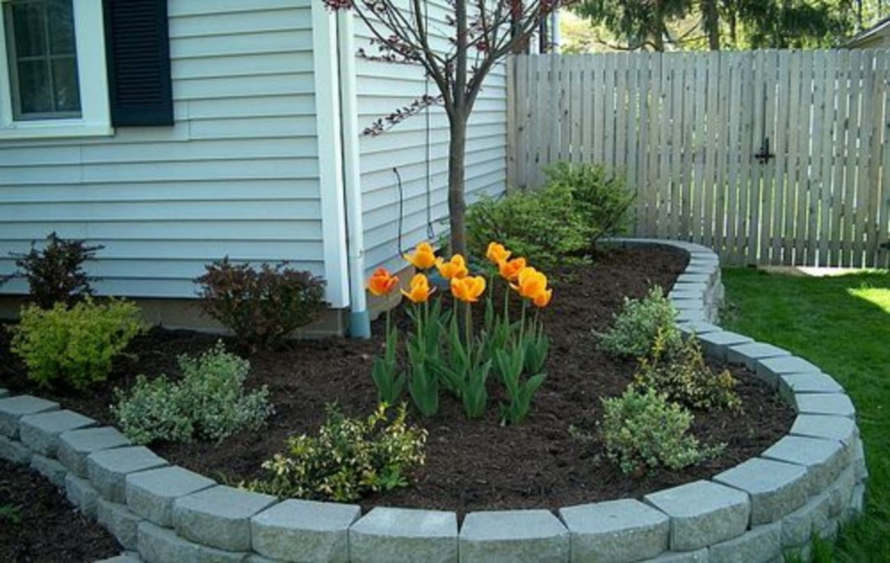 Impressive small front yard landscaping ideas 43
