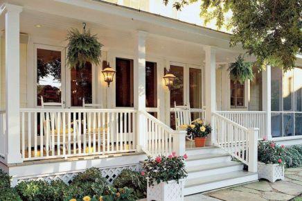Most stylish farmhouse front door design ideas 05