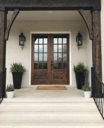 Most stylish farmhouse front door design ideas 18