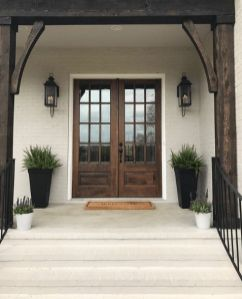 Most stylish farmhouse front door design ideas 18