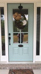 Most stylish farmhouse front door design ideas 24