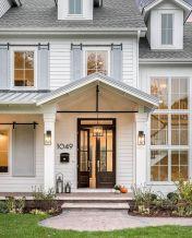 Most stylish farmhouse front door design ideas 26