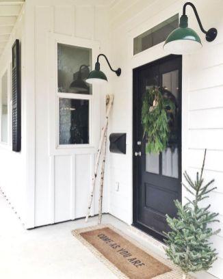 Most stylish farmhouse front door design ideas 27