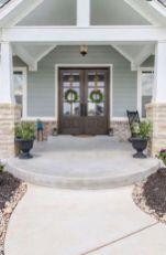 Most stylish farmhouse front door design ideas 33
