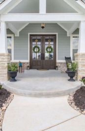 Most stylish farmhouse front door design ideas 33