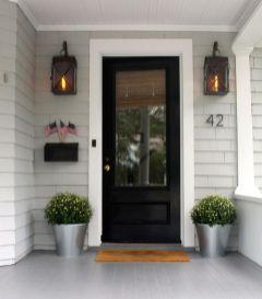 Most stylish farmhouse front door design ideas 42