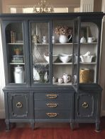 Most unique china cabinet makeover ideas 15