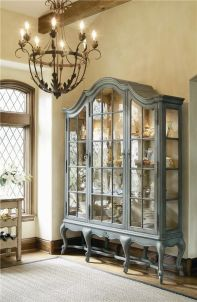 Most unique china cabinet makeover ideas 18