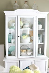 Most unique china cabinet makeover ideas 34