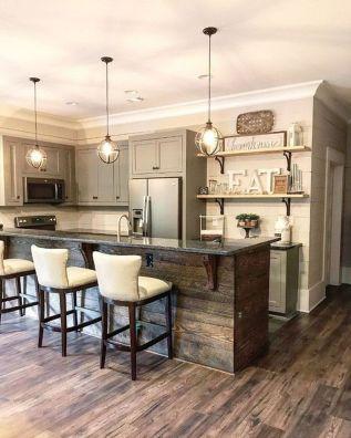 Wonderful wood kitchen design ideas for cozy kitchen inspiration 27