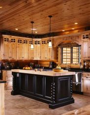 Wonderful wood kitchen design ideas for cozy kitchen inspiration 34
