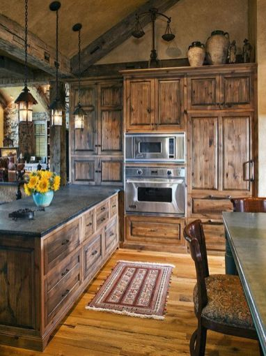 Wonderful wood kitchen design ideas for cozy kitchen inspiration 44
