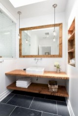Adorable modern rustic bathroom ideas 10