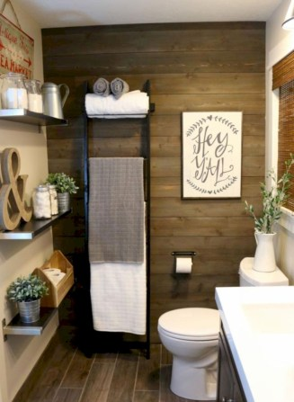 Adorable modern rustic bathroom ideas 32