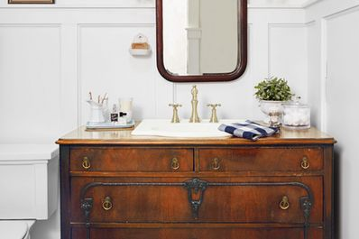 Affordable modern small bathroom vanities ideas 20