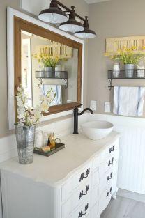 Affordable modern small bathroom vanities ideas 38