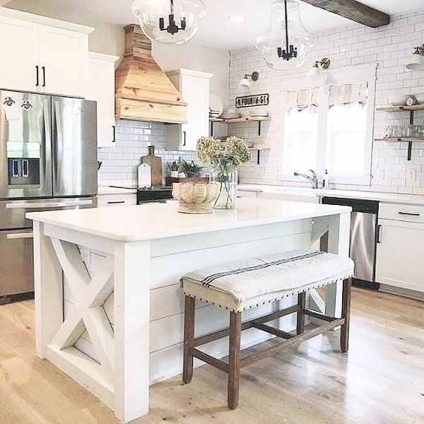 Amazing farmhouse kitchen decor ideas for inspiration 25
