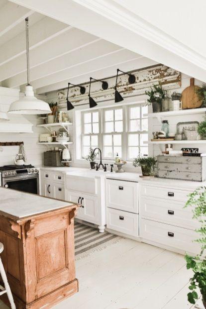Amazing farmhouse kitchen decor ideas for inspiration 34