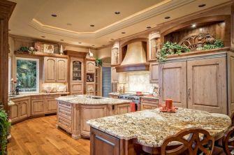 Amazing oak cabinet kitchen makeover ideas 18