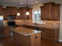 Amazing oak cabinet kitchen makeover ideas 23