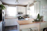 Amazing oak cabinet kitchen makeover ideas 24