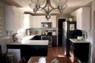 Amazing oak cabinet kitchen makeover ideas 28
