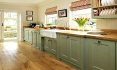 Amazing oak cabinet kitchen makeover ideas 36