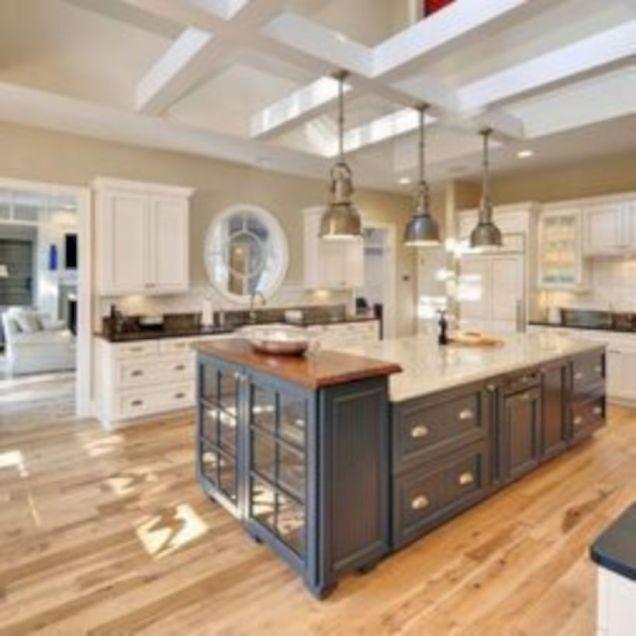 Amazing oak cabinet kitchen makeover ideas 44