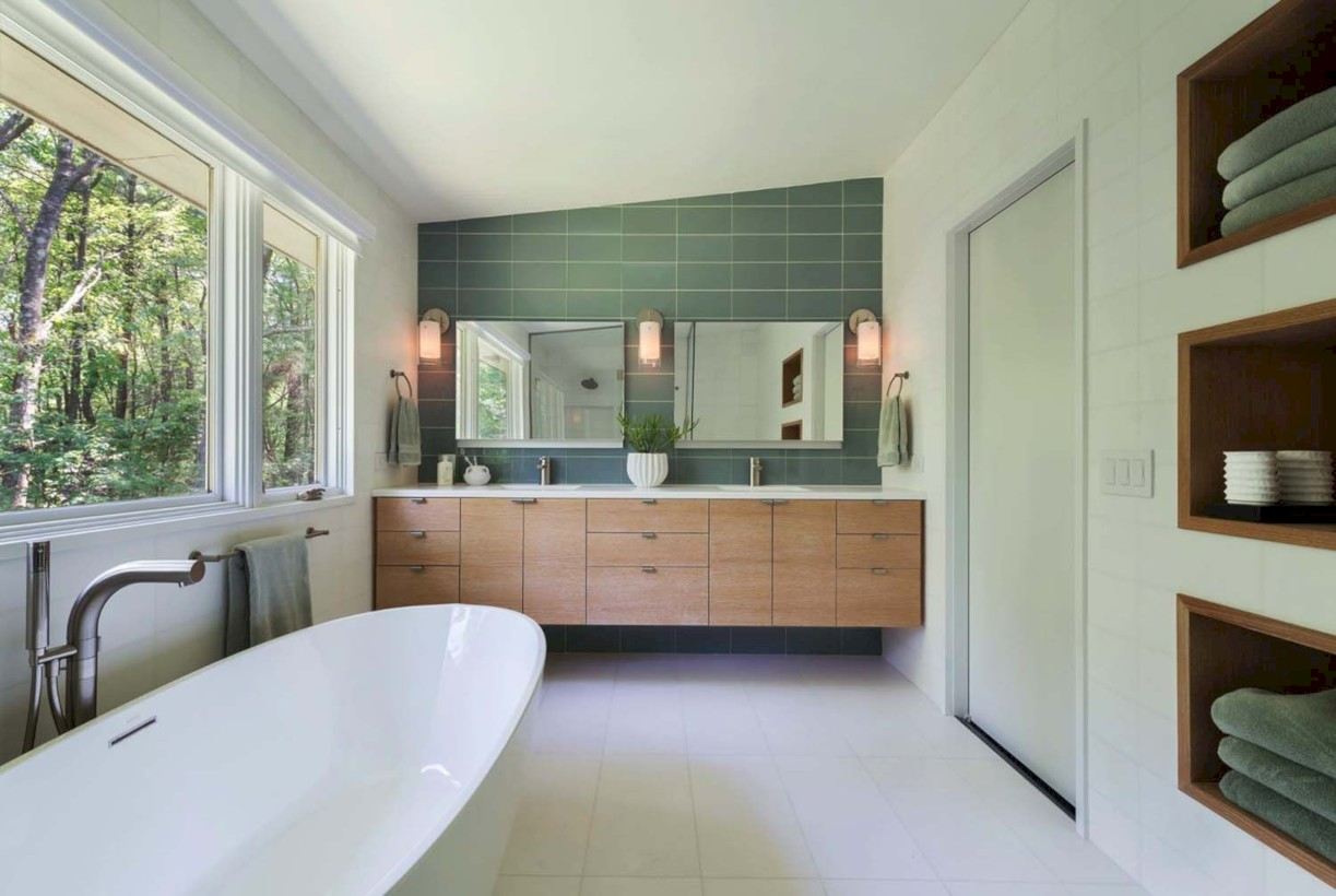43 Beautiful Mid Century Modern Bathroom Ideas