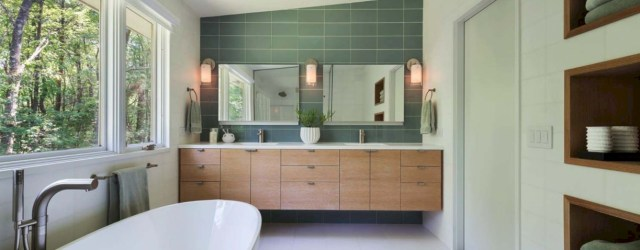 Beautiful mid century modern bathroom ideas 42