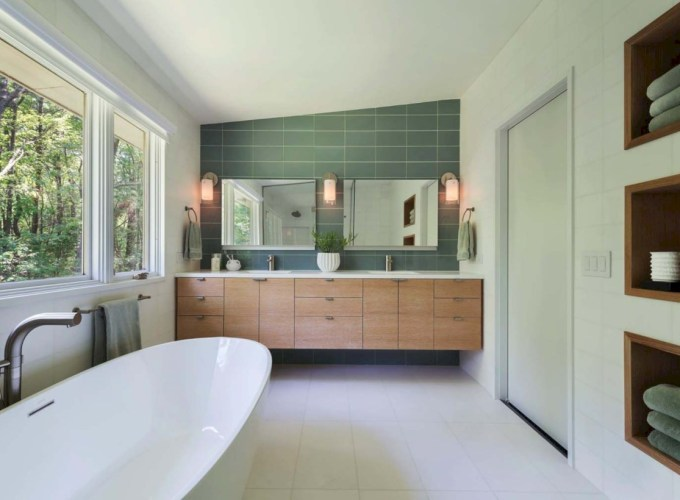Beautiful mid century modern bathroom ideas 42