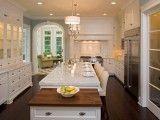 Comfy antique white kitchen cabinets ideas 02