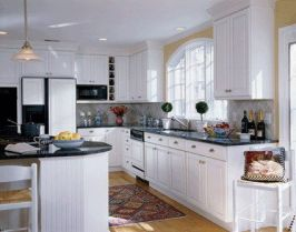 Comfy antique white kitchen cabinets ideas 11