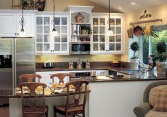 Comfy antique white kitchen cabinets ideas 24