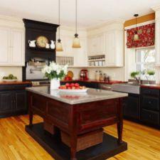 Comfy antique white kitchen cabinets ideas 27