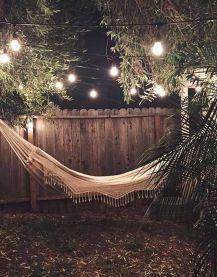 Comfy backyard hammock decor ideas 19
