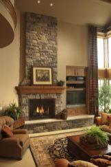 Cute rustic fireplace design ideas 03
