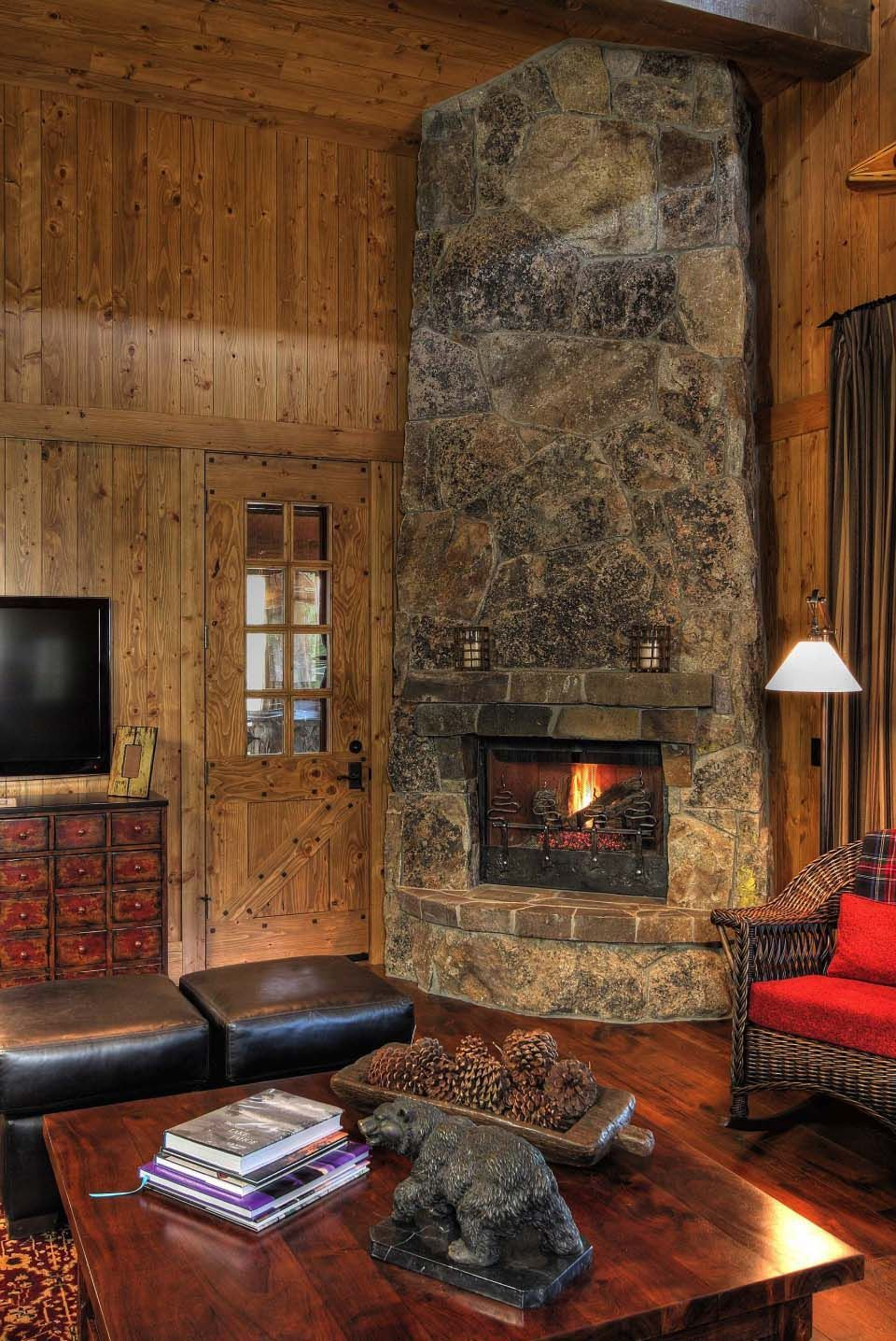Cute rustic fireplace design ideas 09