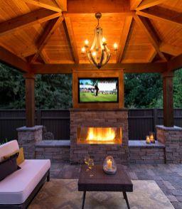 Cute rustic fireplace design ideas 13