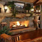 Cute rustic fireplace design ideas 16