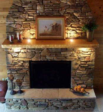 Cute rustic fireplace design ideas 22