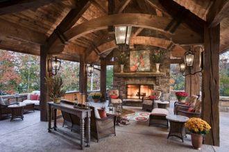 Cute rustic fireplace design ideas 24