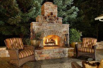 Cute rustic fireplace design ideas 25